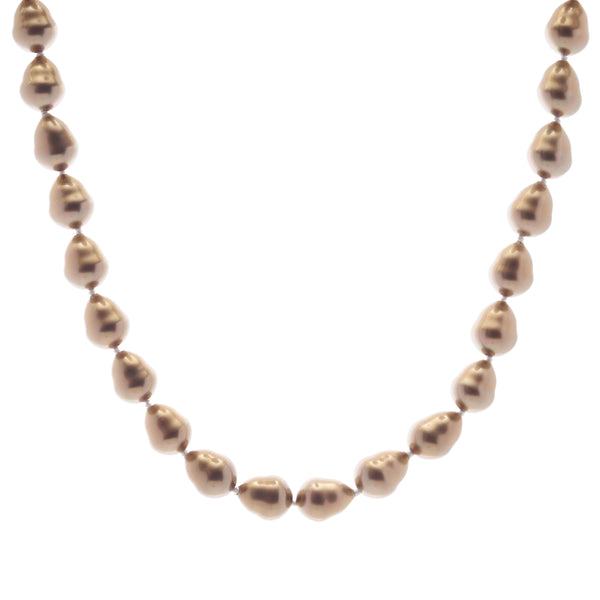 Classic Baroque Coffee Pearl Necklace