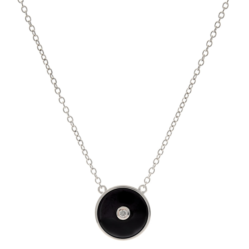 Olivia Rhodium & Black Necklace