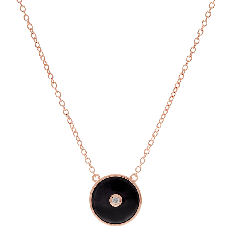 Olivia Rose Gold & Black Necklace