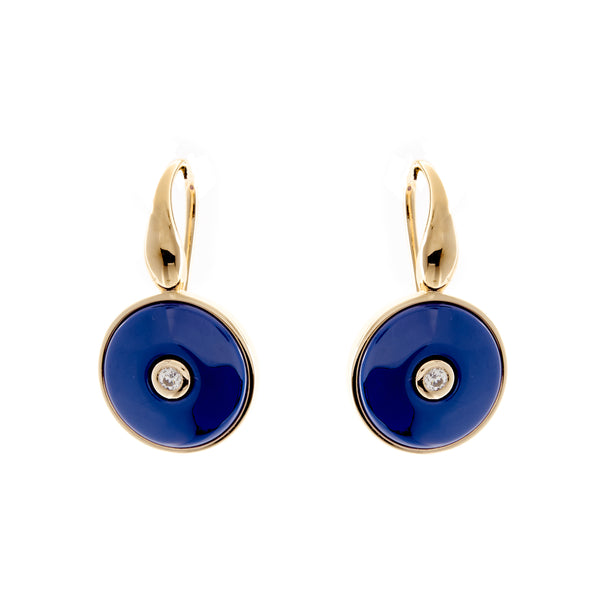 Olivia Gold & Blue Earrings