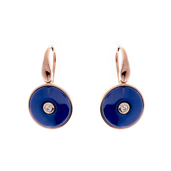 Olivia Rose Gold & Blue Earrings