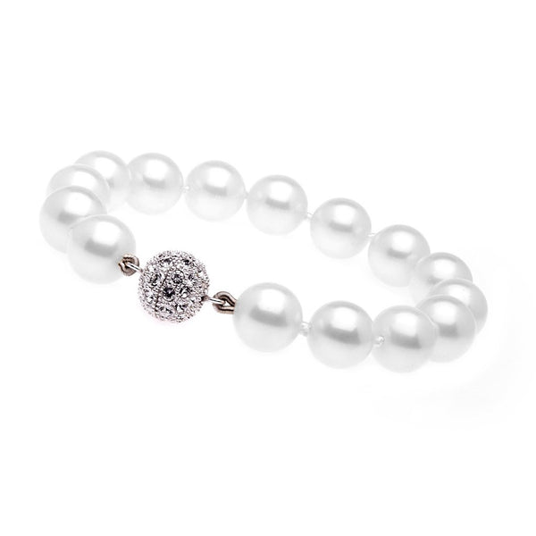 Classic Round White Pearl Bracelet