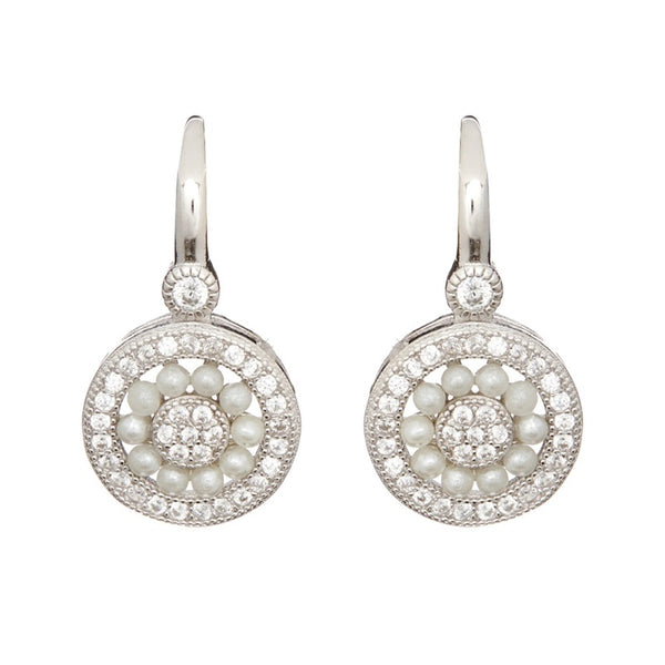Isla Freshwater Pearl Silver Earrings