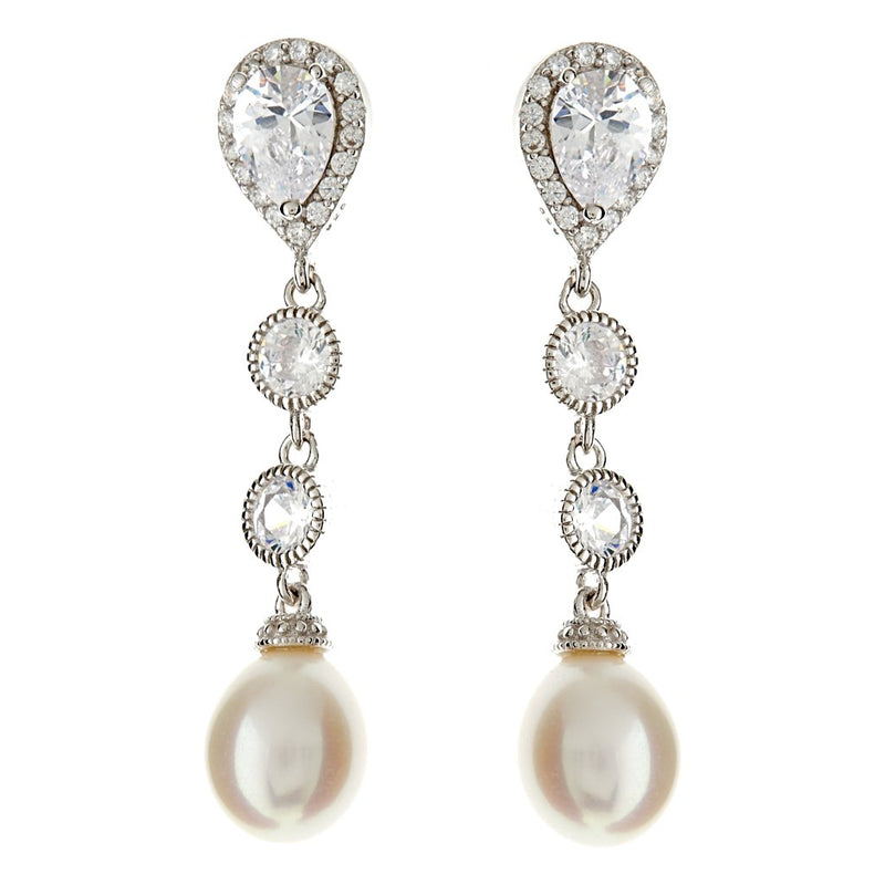 Freya Pearl Drop Earrings