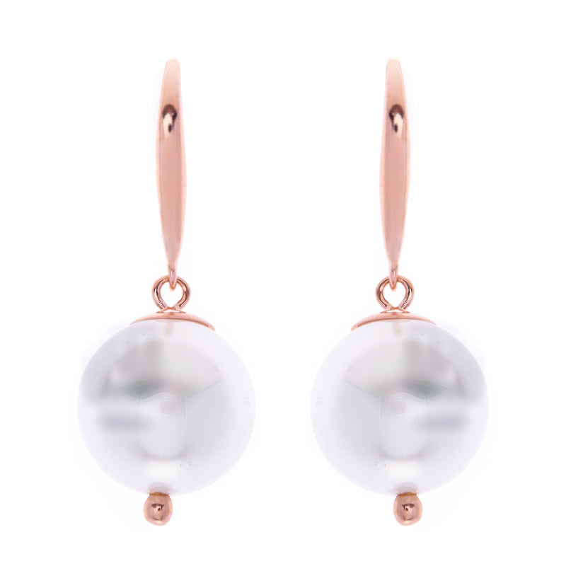 Sofia Pearl Rose Gold Earrings