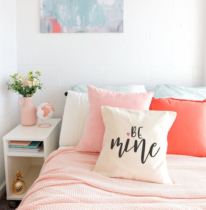 Be Mine Cotton Canvas Pillow Cover - Innovatefy