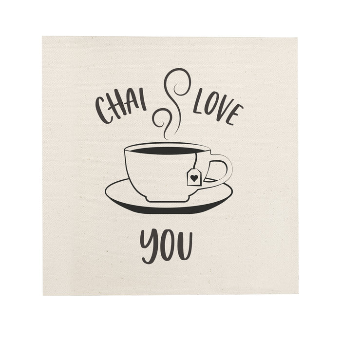Chai Love You Canvas Kitchen Wall Art - Innovatefy