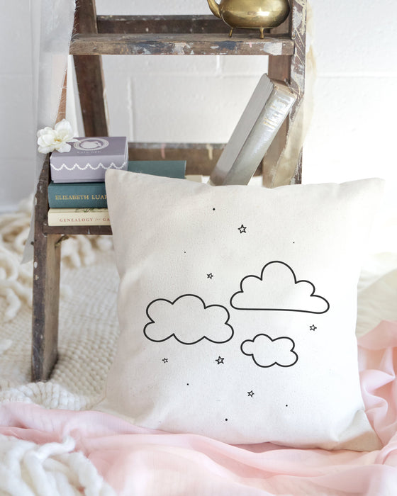 Clouds Baby Cotton Canvas Pillow Cover - Innovatefy