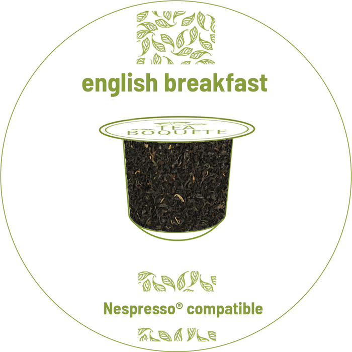 English breakfast black tea pods for Nespresso brewers OriginalLine compatible capsules