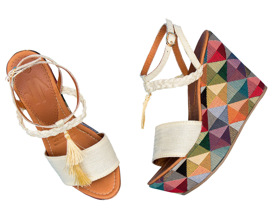 Espadrille Sandals Lined braided Wedge