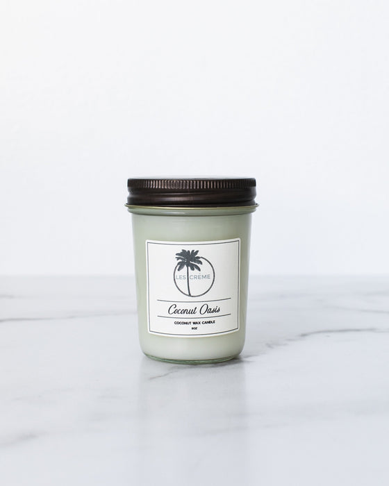 Coconut Oasis Scent Coconut Wax Candle - Innovatefy