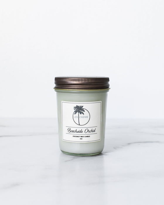 Beachside Orchid Scent Coconut Wax Candle - Innovatefy