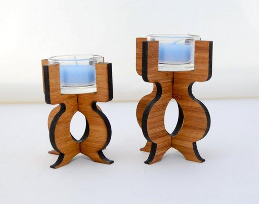 Equinox Tea Light Holder in eco-friendly bamboo - Innovatefy