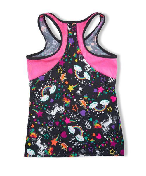UNICORN RACER BACK TANK WITH DIVA PINK - Innovatefy