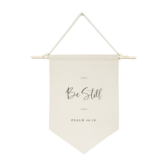 Be Still, Psalm 46:10 Hanging Wall Banner Cotton Canvas Scripture, Bible Hanging Wall Banner - Innovatefy