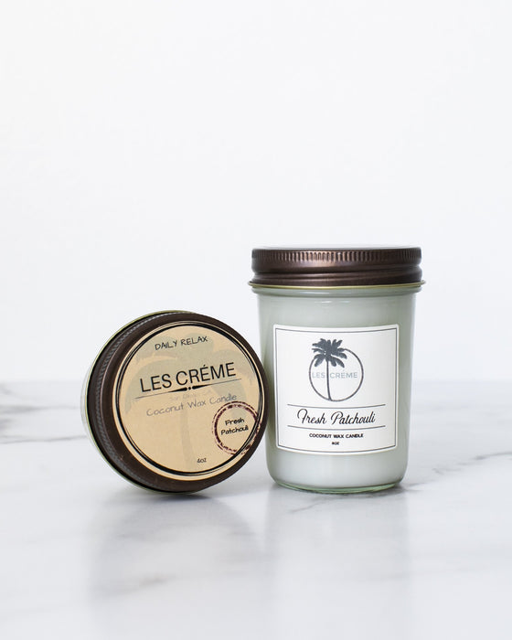 Fresh Patchouli Scent Coconut Wax Candle - Innovatefy