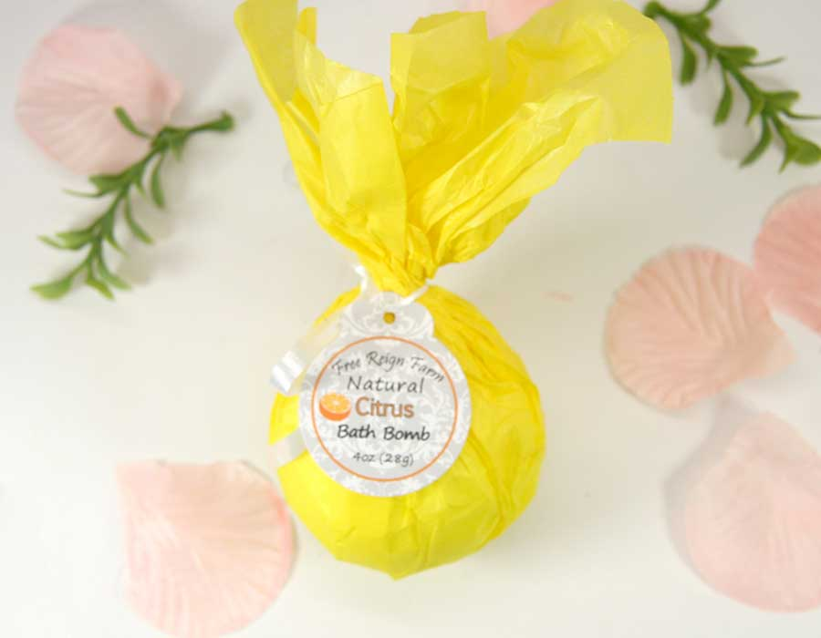 Bath Bombs - Sweet Orange - 4 Pack - Innovatefy