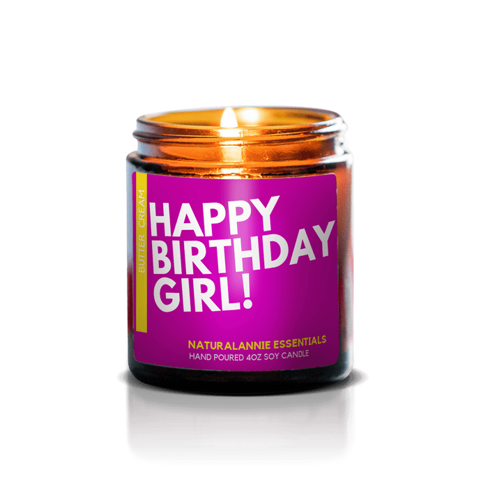 HAPPY BIRTHDAY GIRL! Butter and Cream Scented Soy Candle - Innovatefy