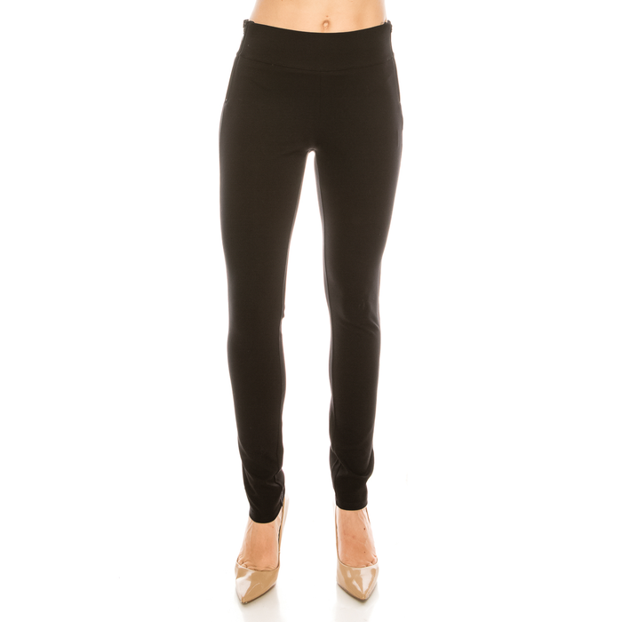Urban Diction Black Ponte Stretch Trousers