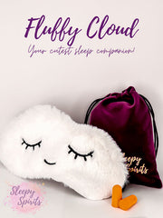 Fluffy Cloud Sleeping Mask - Sleepy Spirits