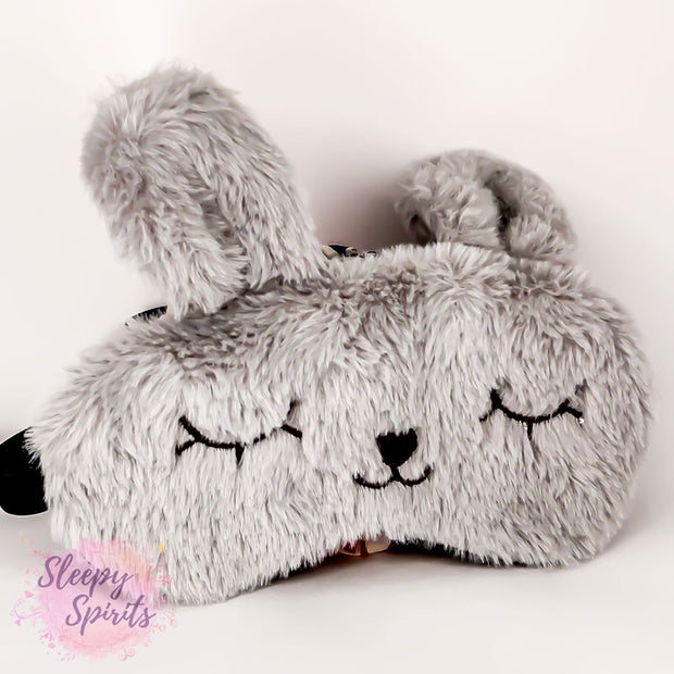 Gray Rabbit Sleeping Mask - Sleepy Spirits