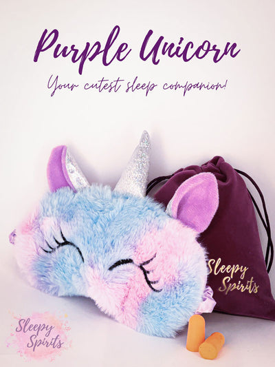 Purple Unicorn Sleeping Mask - Sleepy Spirits