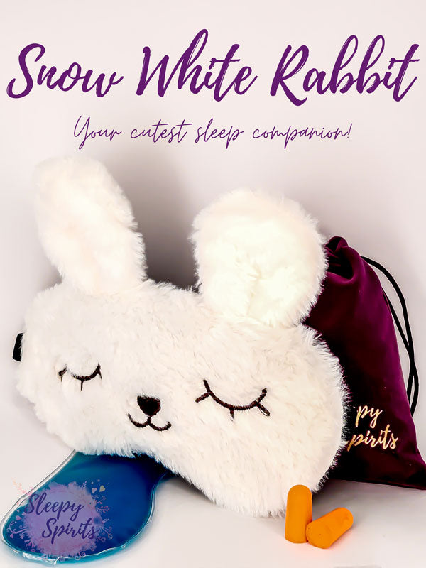 Snow White Rabbit Sleeping Mask - Sleepy Spirits