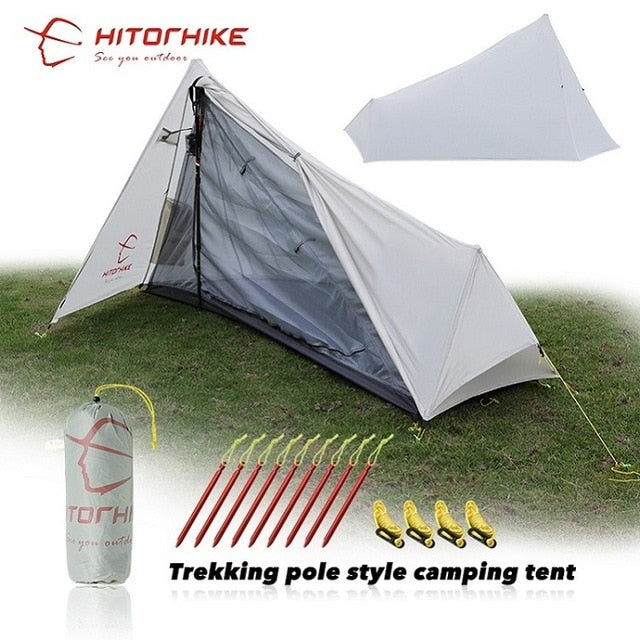 Hitorhike Ultralight 3 Seasons 1 Person Camping Hiking Tent