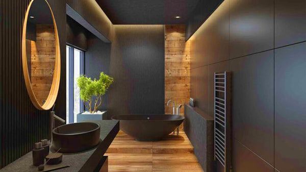 black master bath ideas