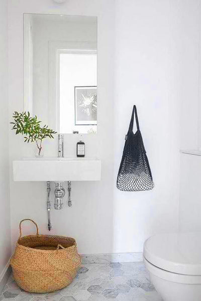towel basket under sink bathroom storage