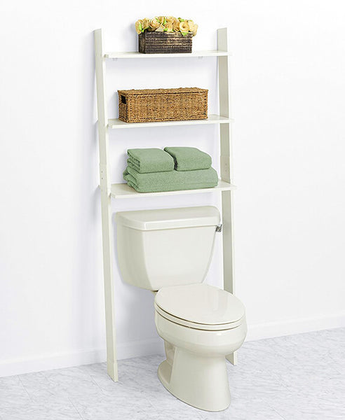 wooden ladder bathroom shelving ideas