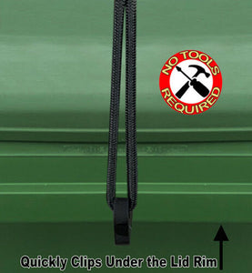 Wheelie Bin Lid Lock Strap-Single Pack - No Tools required