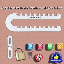 Load image into Gallery viewer, Patio French Double Door Lock-Fits Both 'D','P' and Standard Handles-'Croc'
