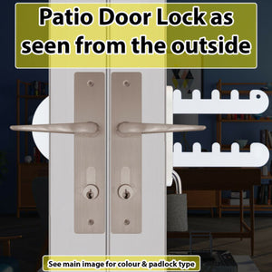Patio French Double Door Lock-Fits Both 'D','P' and Standard Handles-'Croc'