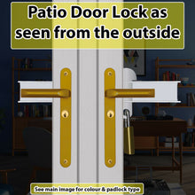 Load image into Gallery viewer, Patio French Door Lock-Chocolate Brown Colour 'Box Section'