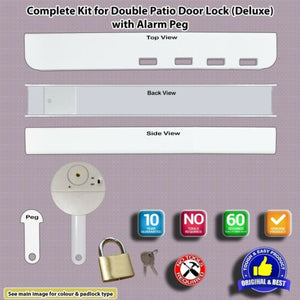 Patio French uPVC Door Dead Lock-with Alarm Fitted Option