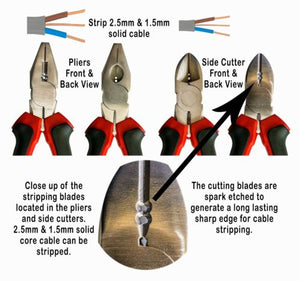 Electricians Pliers and Side Cutters