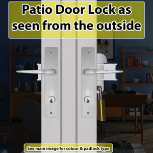 Patio French Door Lock-Left Fitting 'Deluxe'
