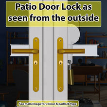 Load image into Gallery viewer, Patio French uPVC Door Dead Lock-with Alarm Fitted Option