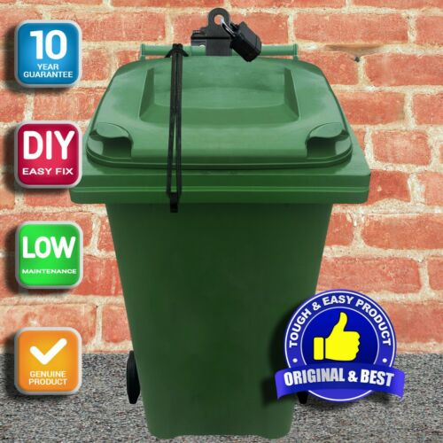 Wheelie Bin Wall Post Mount Lock-Free Bungee Lock