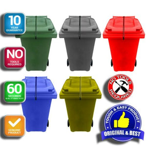 Wheelie Bin Lid Strap Lock-Various Colours