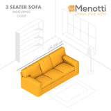 3 Seater Sofa Cover -  Sandy Universo Microfibra Printed - Menotti Sofa Covers