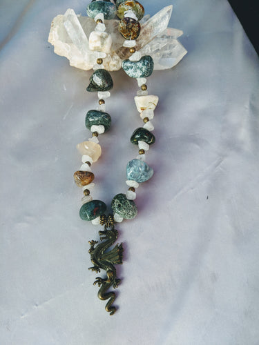 Moss Agate Dragon