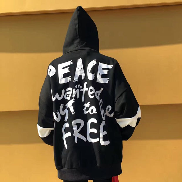 """Peace just wanted to be free"" Sweatshirt oversize"