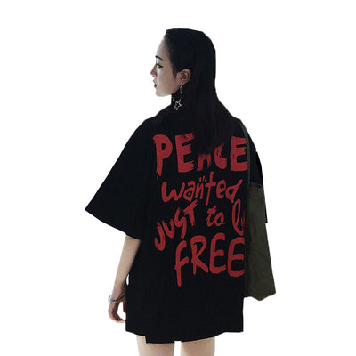 "T-shirt ""Peace Wanted Just to be free"""