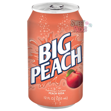 Sweet Packs Big Peach Soda Can 12oz (355ml) Big Peach Soda Can