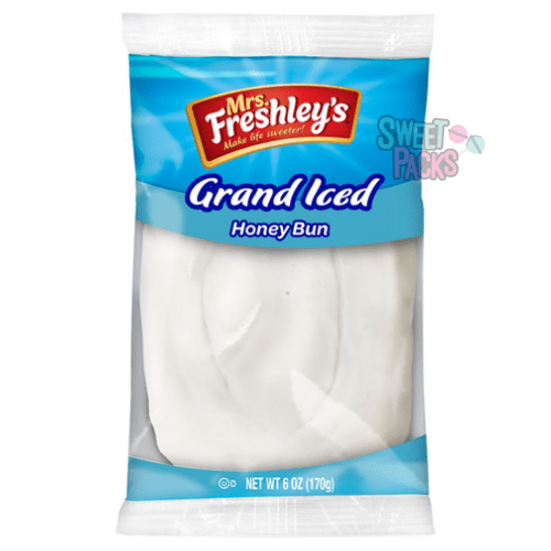 Sweet Packs Mrs Freshley's Grand Iced Honey Bun 6oz (170g) Mrs Freshley's Grand Iced Honey Bun