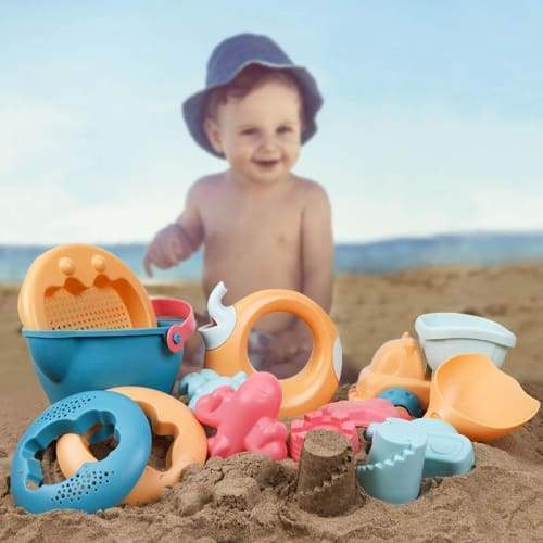 Beiens Beach Toys for Kids 5-14pcs Baby Game Toy Children Sandbox Set Kit Summer Play Sand Water Cart
