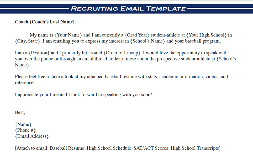 Always Grind Recruiting Email Template