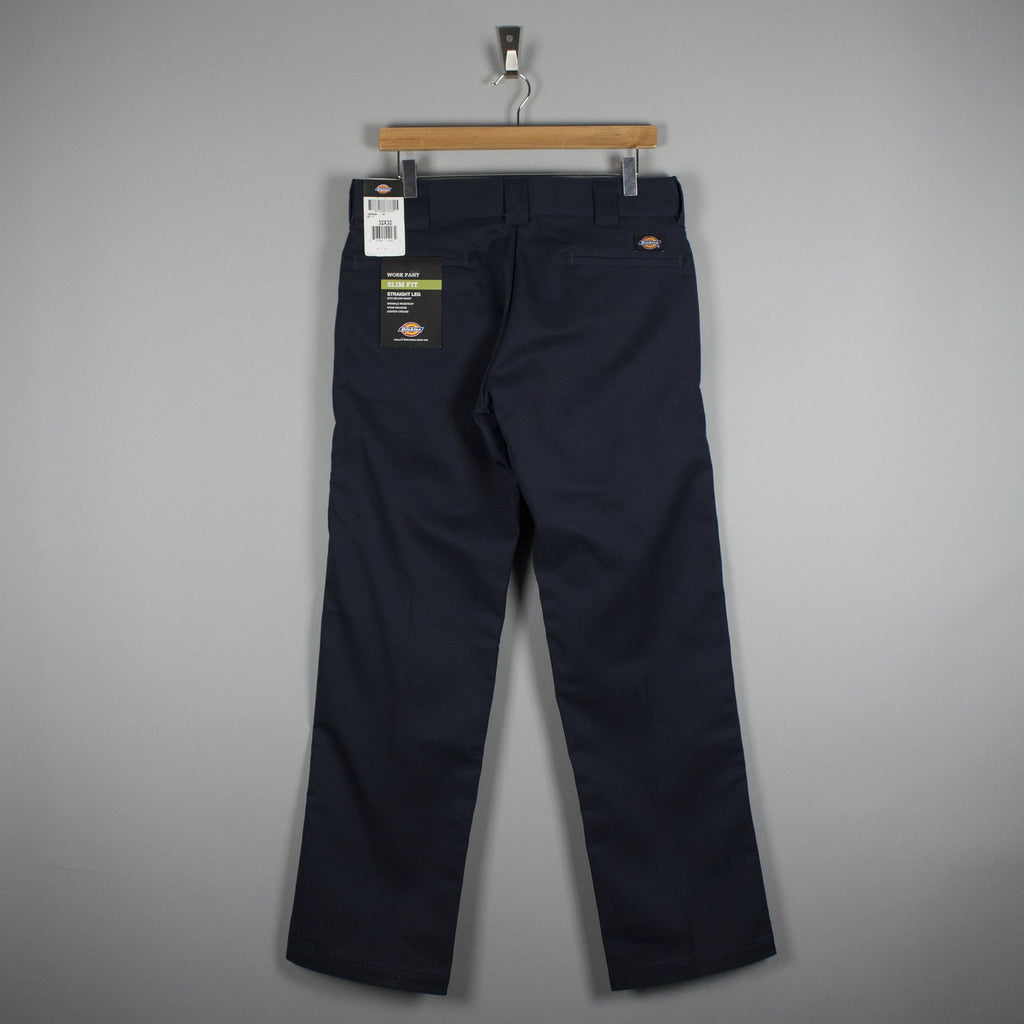 Dickies 873 Slim Straight Work Trousers Dark Navy